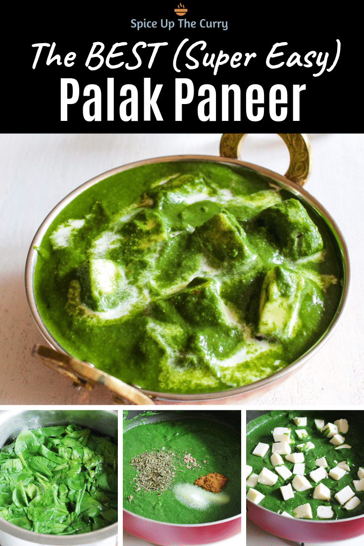 Palak paneer recipe pin