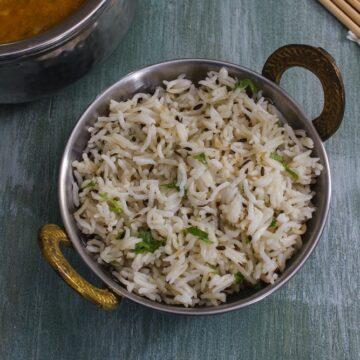 Instant pot jeera rice (PIP)