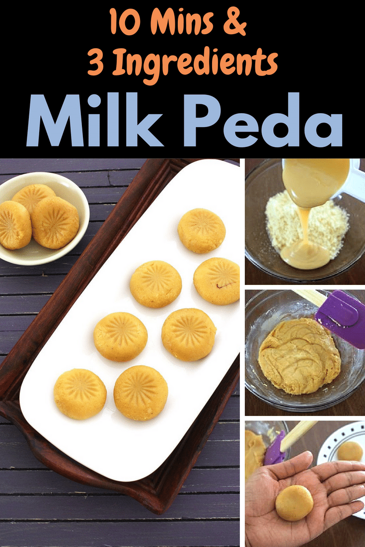 Doodh Peda Recipe (Milk Peda) 3 Ingredients and 10 Minutes