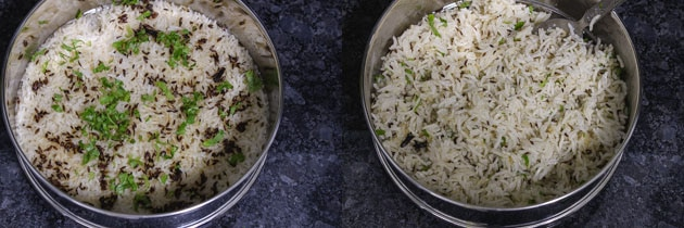 Instant pot jeera rice is ready using PIP method