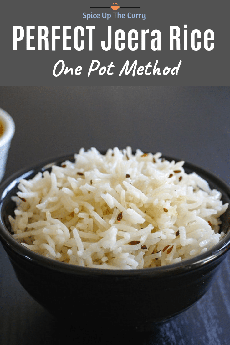 Jeera rice recipe Pin image