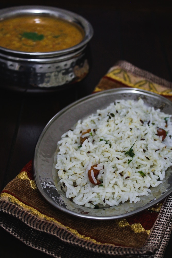 jeera rice recipe, restaurant style