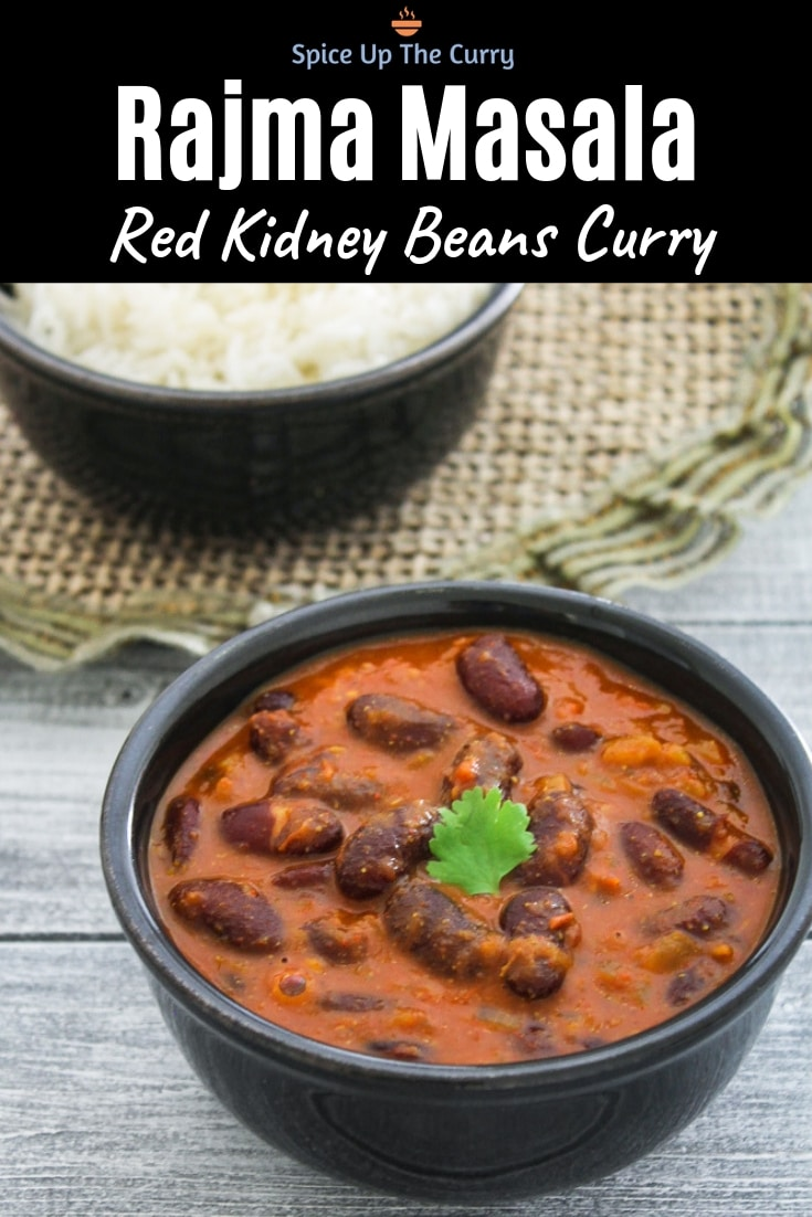 Punjabi Rajma Masala Recipe (Red Kidney Beans Curry) Pin