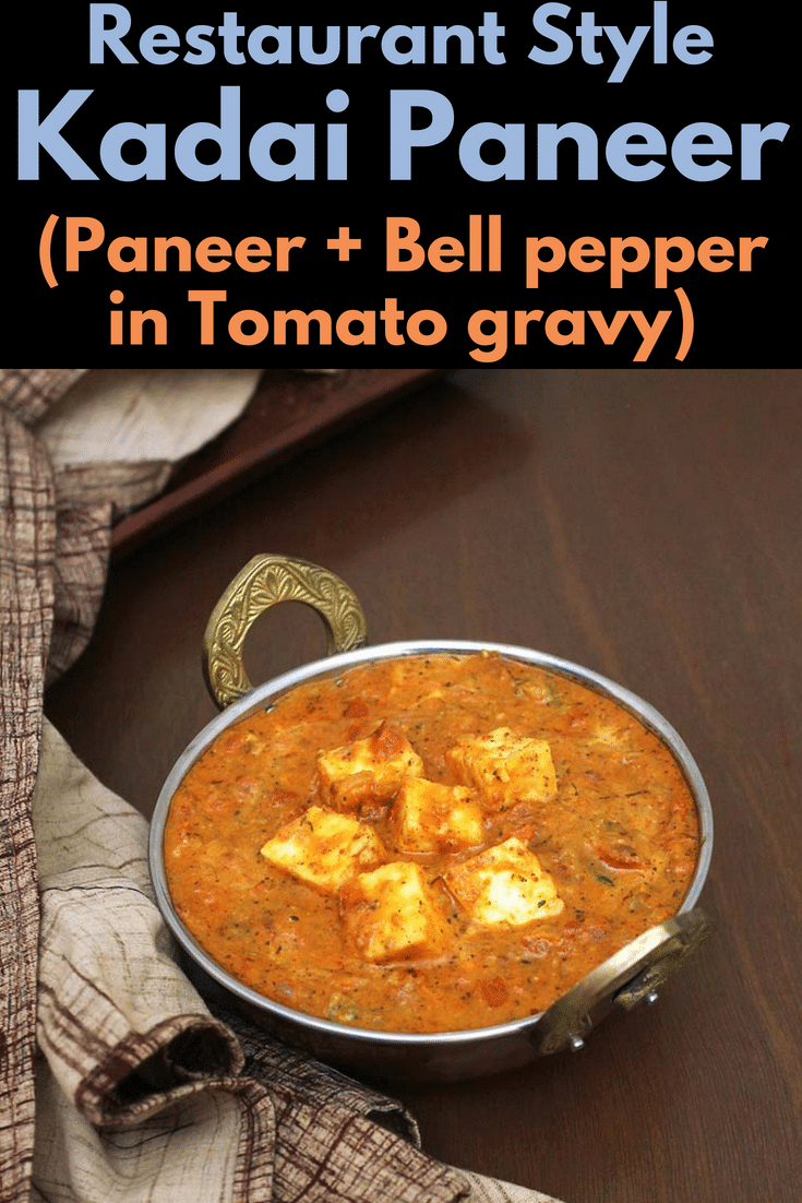 This restaurant style kadai paneer recipe is is made with fresh kadai masala and the BEST recipe amongst all the paneer curries. Whether it's dry kadai paneer or kadai paneer gravy version, both tastes too delicious. Learn how to make kadai paneer with these step by step photos. #paneer #stepbystep #lunch #restaurantstyle #curries #vegetarian