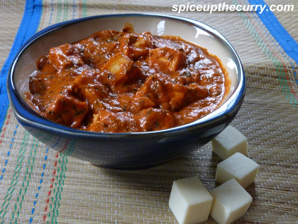 Paneer Makhani (Paneer Butter Masala) (Restaurant Style) » Spice up ...