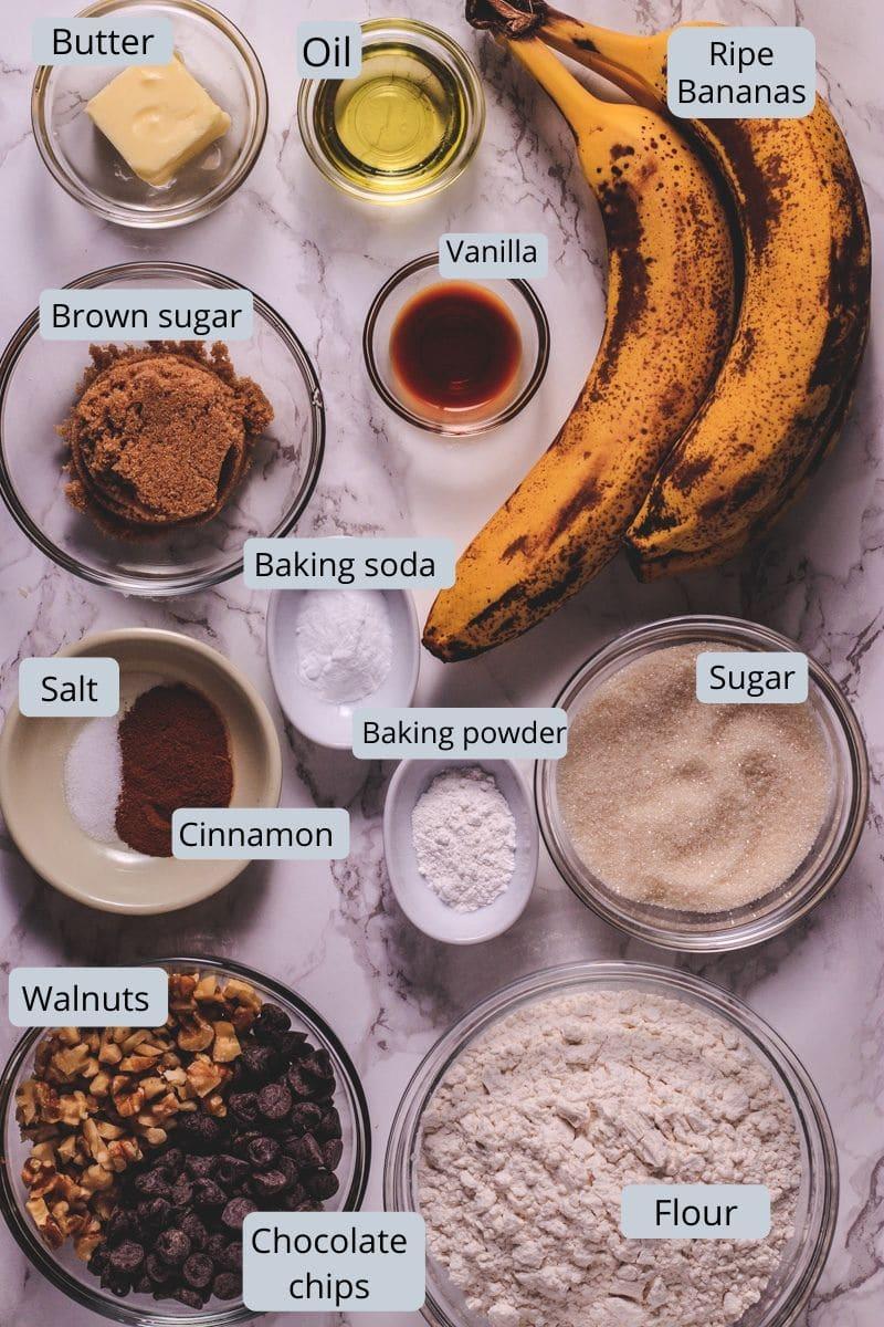 eggless banana muffin ingredients