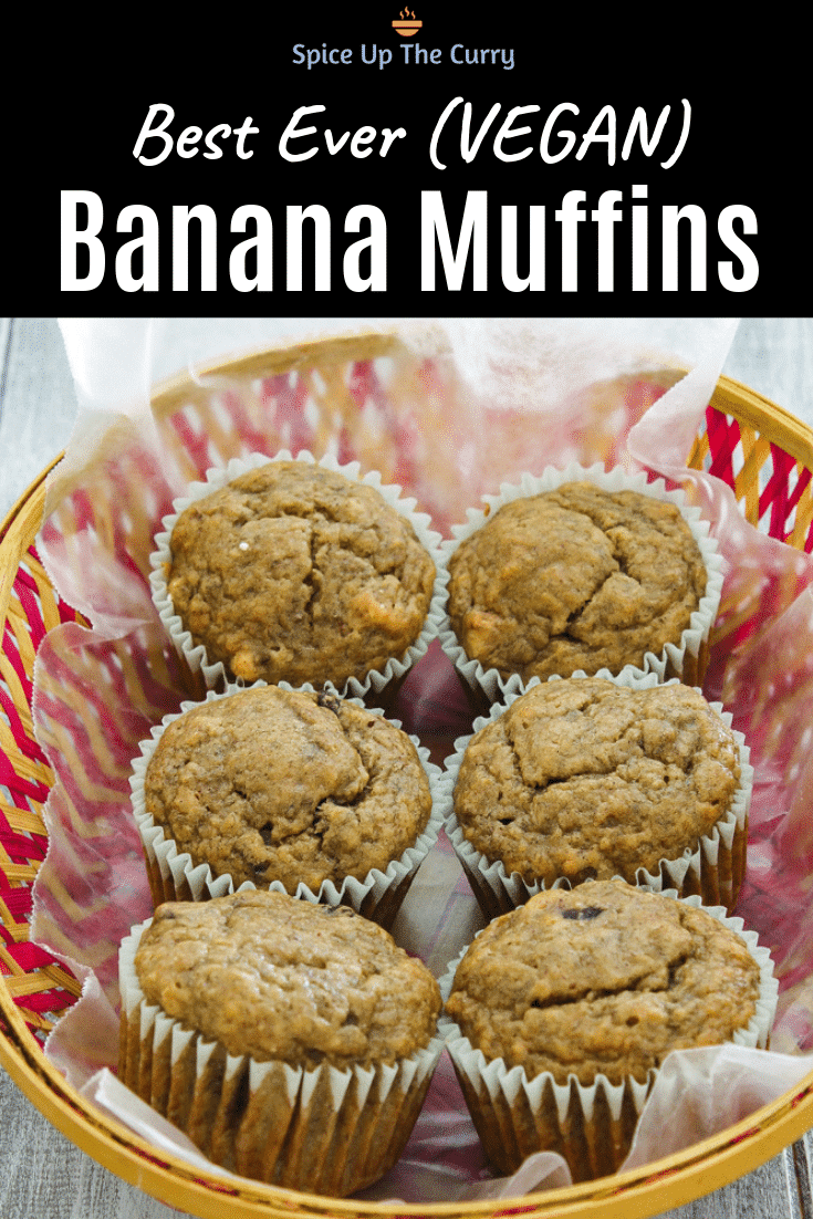 eggless banana muffins Pin