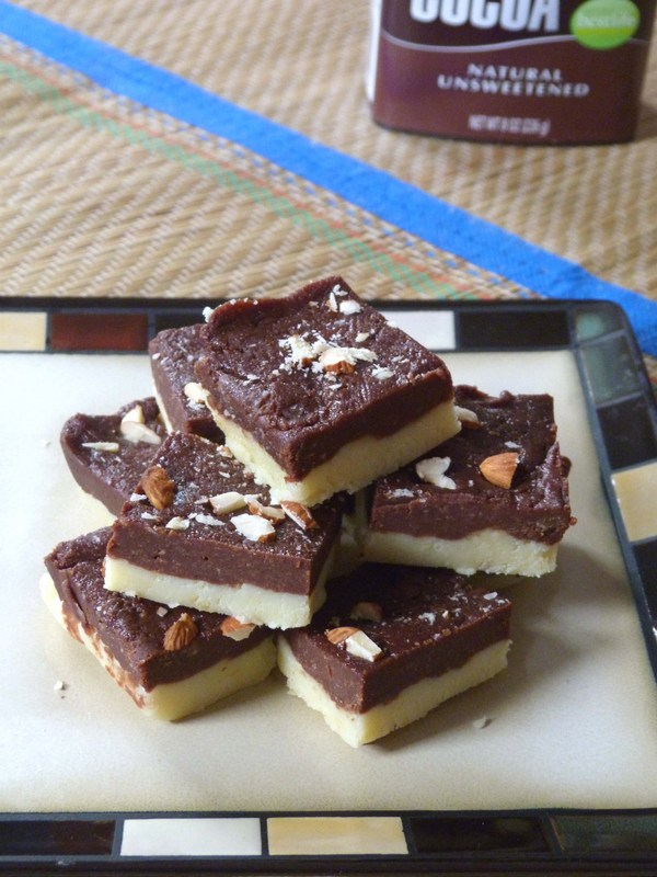 Easy Chocolate Barfi (Burfi) Recipe - YouTube