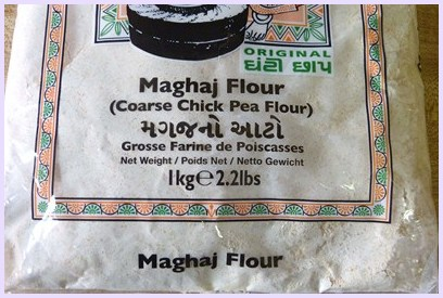 chickpea flour used for making Magas