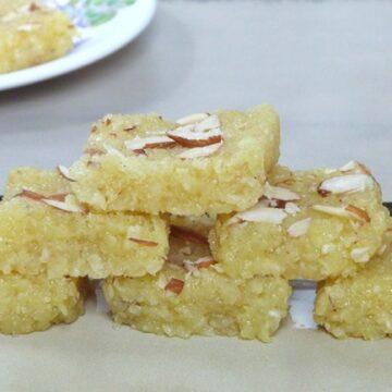 Kopra Pak - Coconut Burfi Recipe