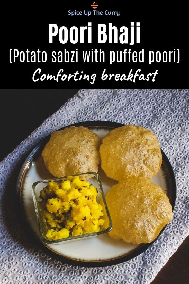 Poori bhaji recipe Pin