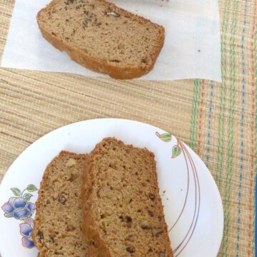 Eggless applesauce bread recipe (How to make eggless applesauce bread)