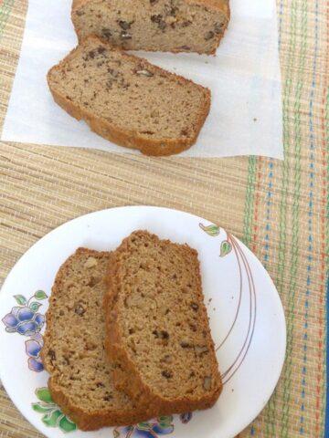 Eggless applesauce bread recipe (How to make eggless applesauce bread)