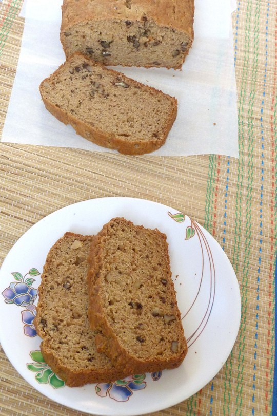 Eggless applesauce bread recipe