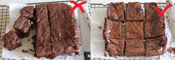 Eggless Chocolate Brownie comparison