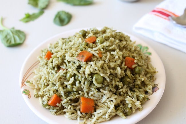 Palak Rice Recipe