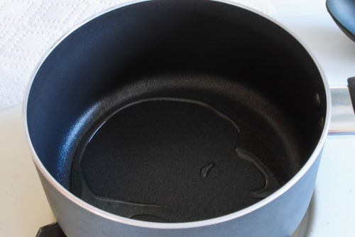 ghee heating in a saucepan