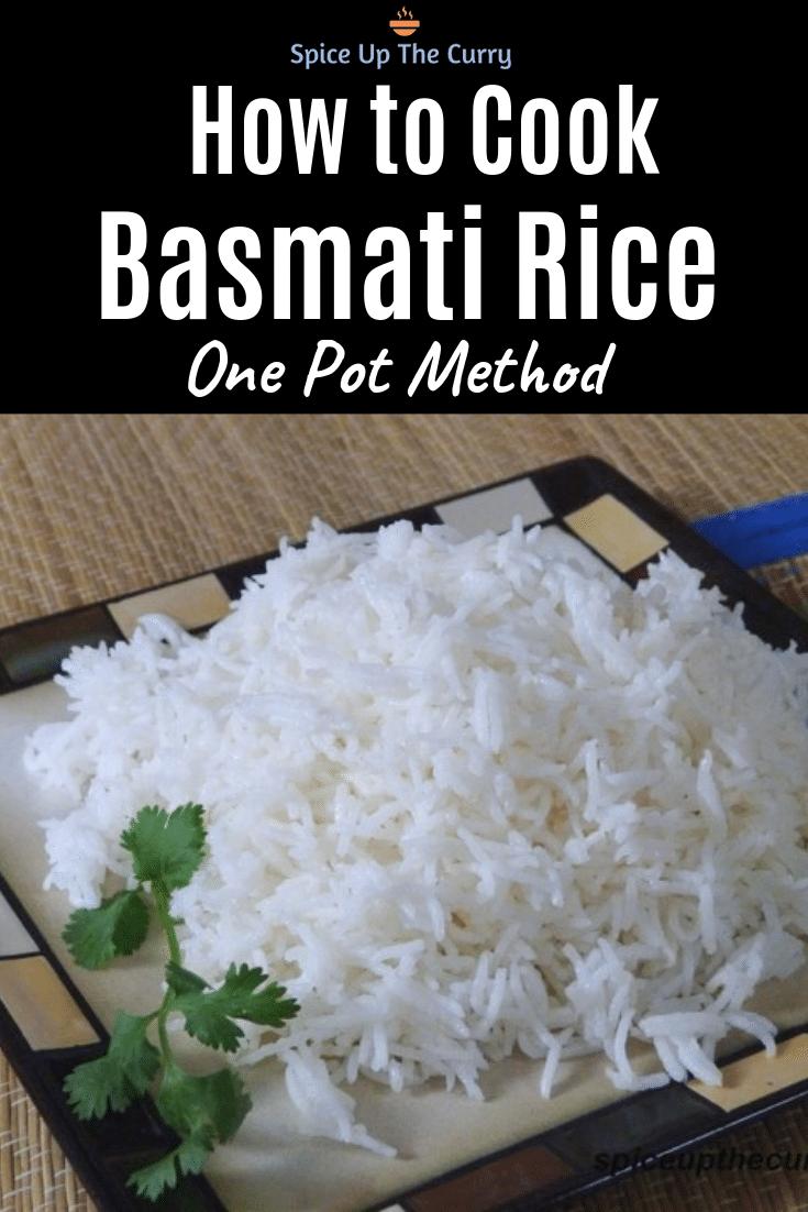 Cook basmati rice pin
