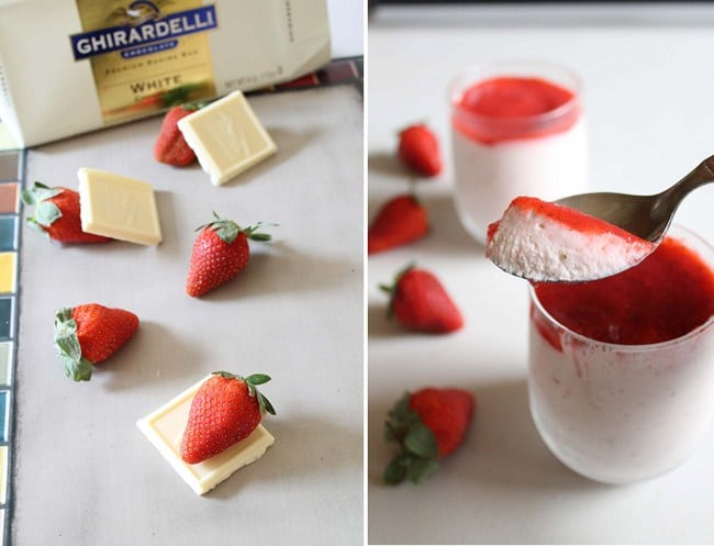 Eggless Strawberry Mousse Recipe | strawberry mousse without gelatin
