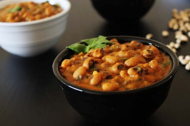 Black eyed peas Curry - Gujarati style