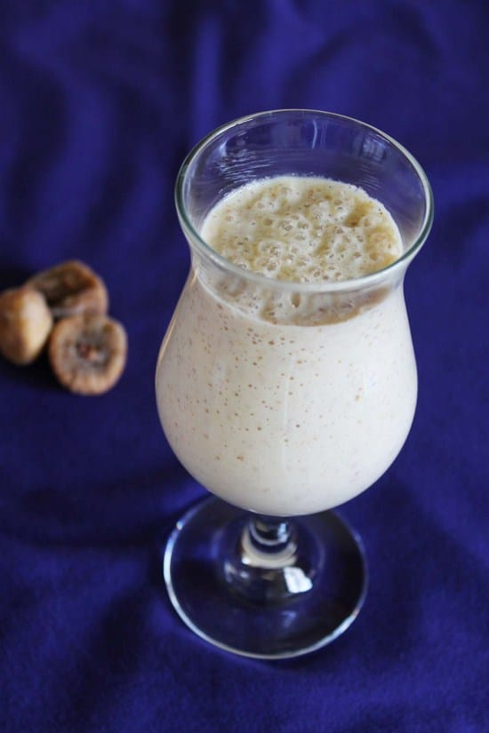 Cashew fig milkshake recipe | Kaju anjeer milkshake recipe
