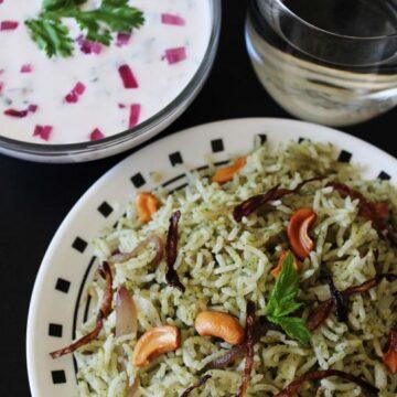 Mint Rice Recipe | Pudina rice recipe | mint or pudina pulao