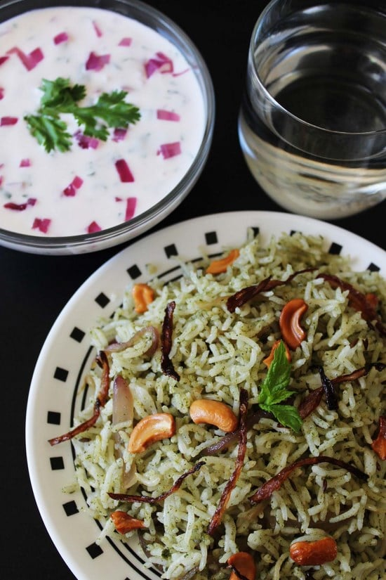 Mint Rice Recipe - Phudina Pulao