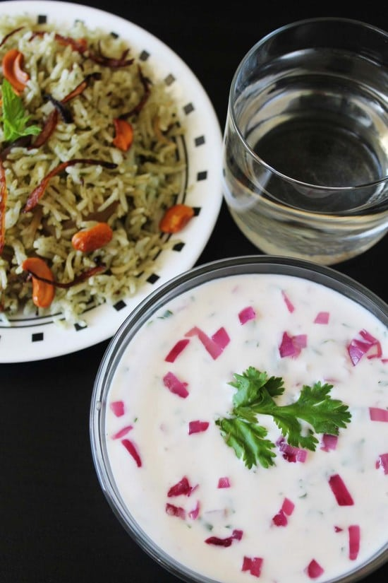 Onion raita recipe | How to make onion raita | Roasted onion raita