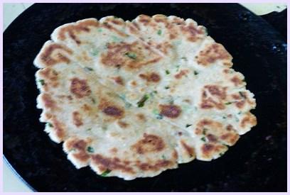 cooked rajgira paratha