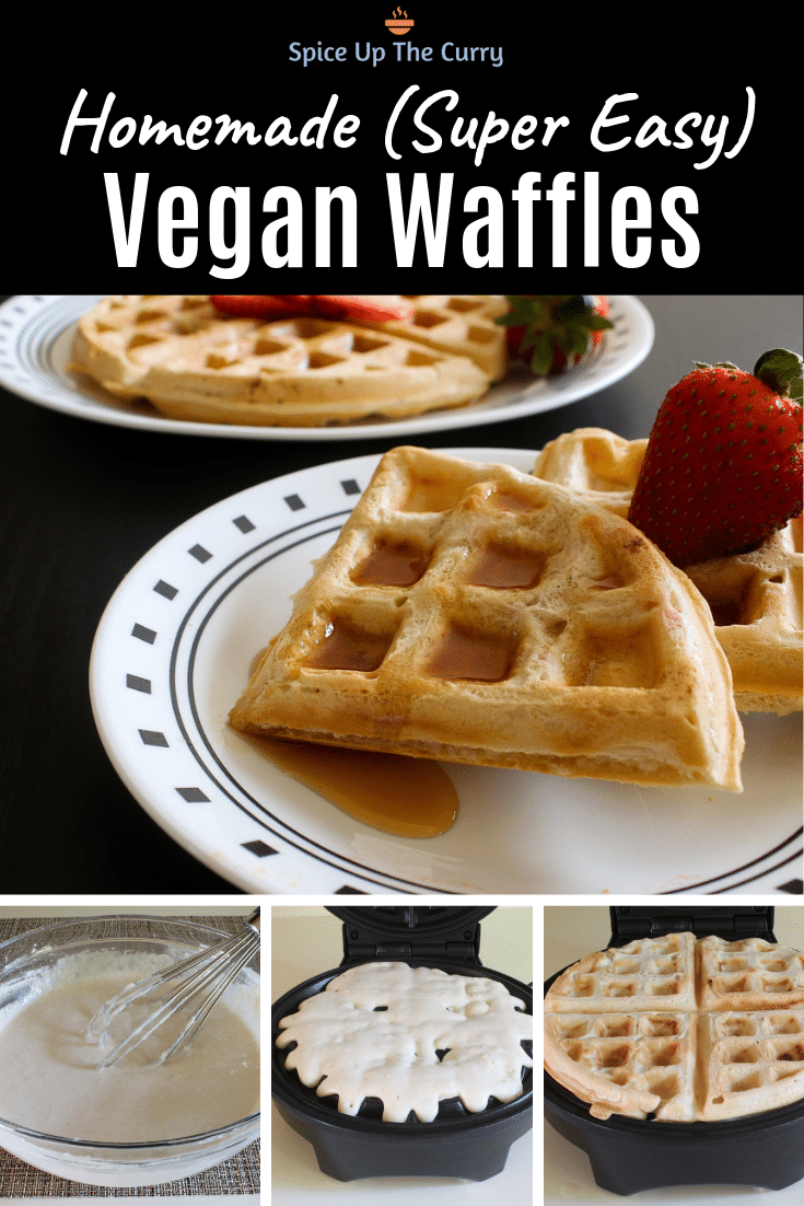 eggless waffles (vegan waffles recipe)