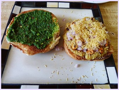 adding dabeli toppings