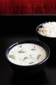 Suva kadhi recipe (Dill leaves kadhi) Shepu bhaji recipe