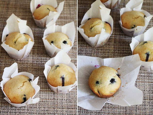 Eggless blueberry lemon muffins recipe
