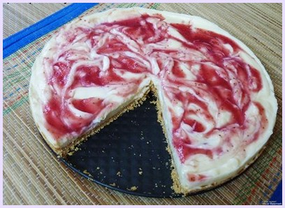 Eggless strawberry cheesecake recipe (How to make eggless cheesecake)
