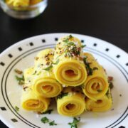 Khandvi recipe (How to make khandvi), Gujarati khandvi