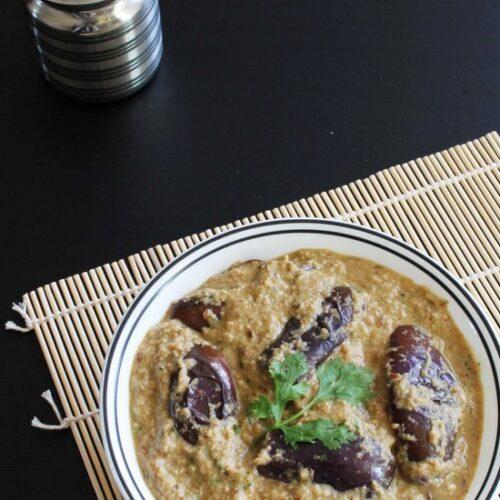 Bagara baingan recipe (How to make Hyderabadi bagara baingan)