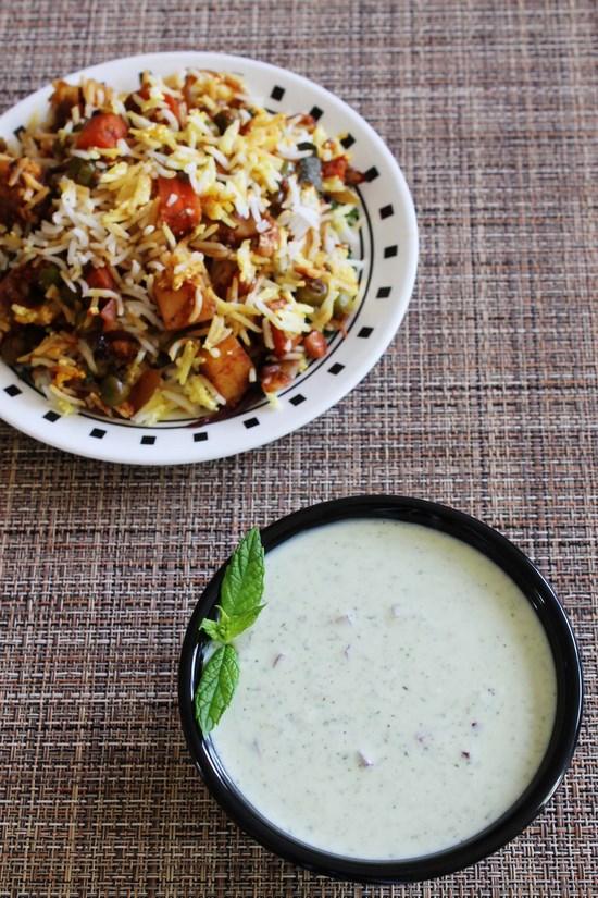 पुदीना रायता रेसिपी (Mint raita recipe in hindi), मिन्ट रायता