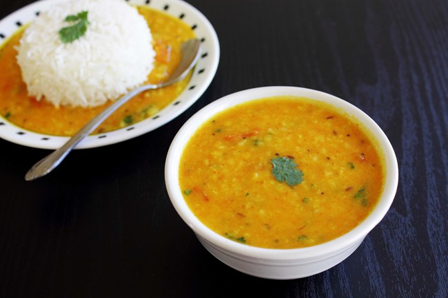 Garlic Flavored Yellow Moong Recipe — Dishmaps