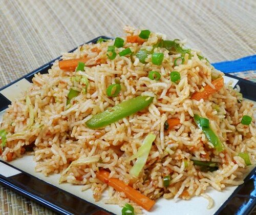 Schezwan Fried rice- indo-chinese recipe