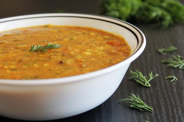 Suva dal recipe - dal with dill leaves - suva-shepu bhaji recipe