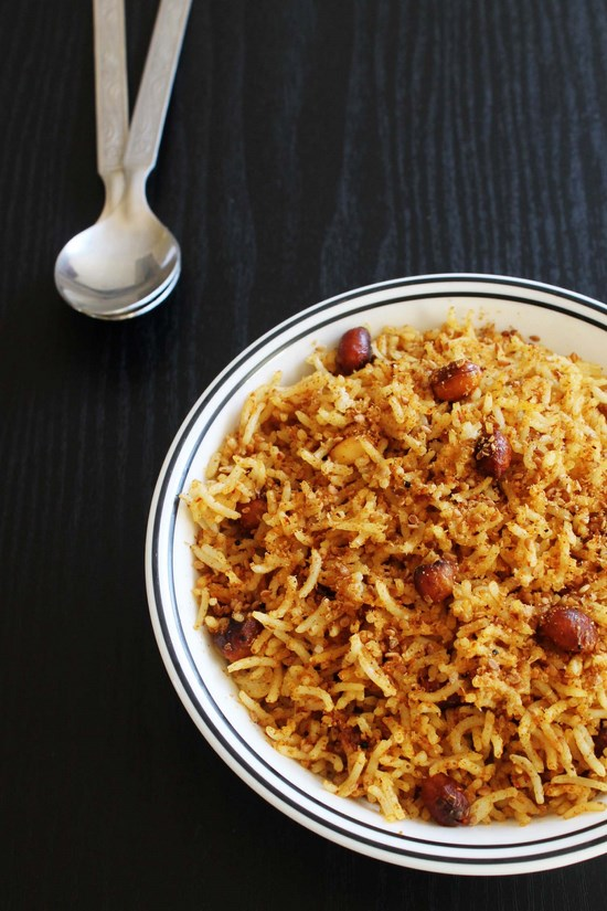 Tamarind rice recipe - Imli rice - South Indian Pulliodarai