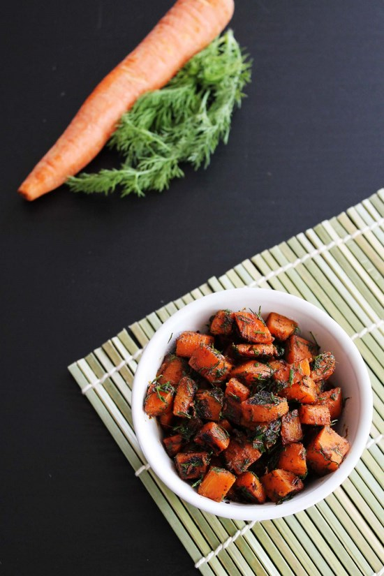 Gajar suva sabzi recipe (How to make gajar suva) Carrot with dill leaves
