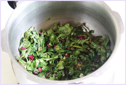 Beet greens dal recipe (How to make beetroot leaves dal recipe)