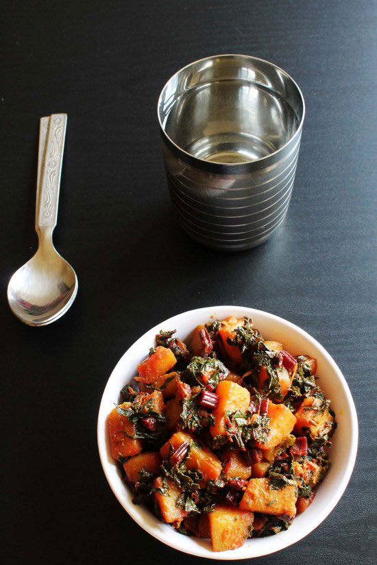 Aloo beet greens sabzi recipe