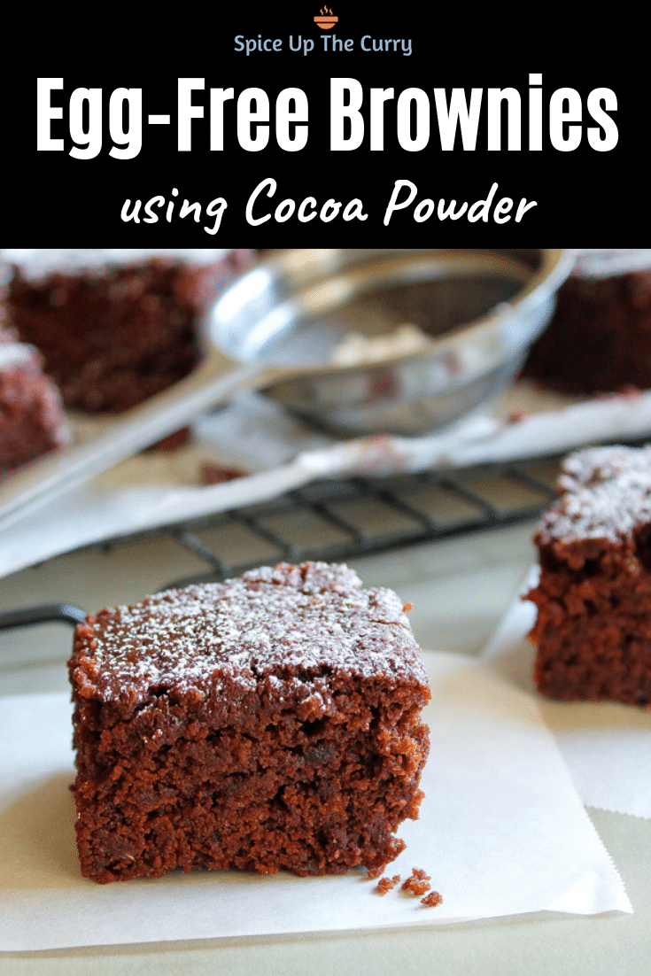 eggless brownies pin