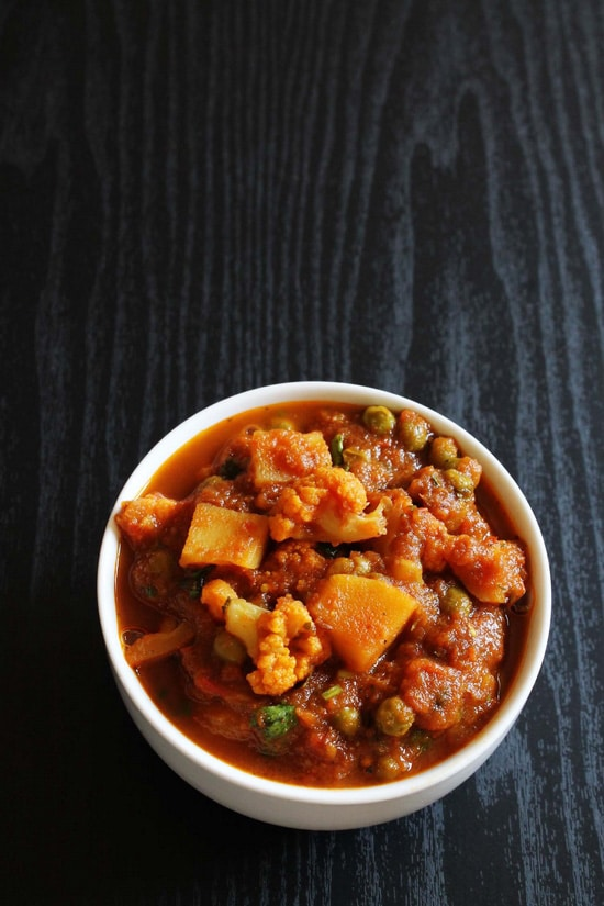 Aloo gobi matar recipe (How to make aloo gobi matar gravy, curry recipe)