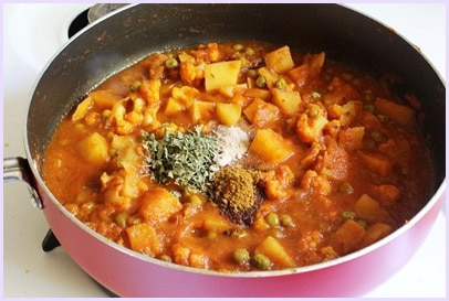 Aloo gobi matar recipe (How to make aloo gobi matar gravy, curry recipe)