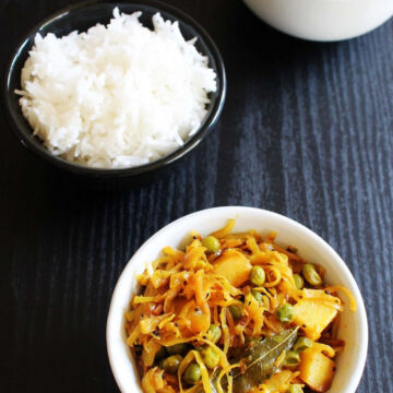 Cabbage Subzi Recipe | Guajarai Kobi Vatana Bateta nu Shaak