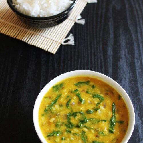 Palak Moong dal Recipe | Moong Dal with Spinach | Dal Palak