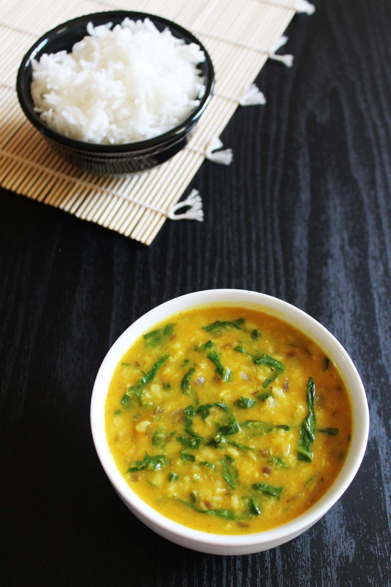 Dal Palak Recipe-How to make Moong Dal with Spinach